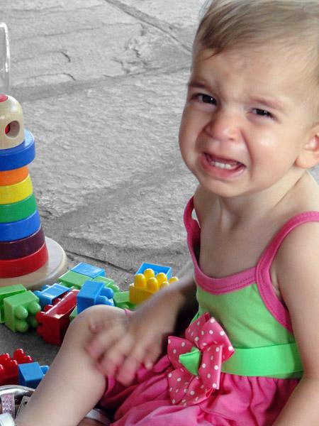 Athena crying