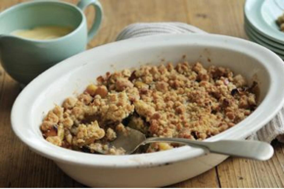 Ένα δημοφιλές αγγλικό γλυκό: apple crumble!