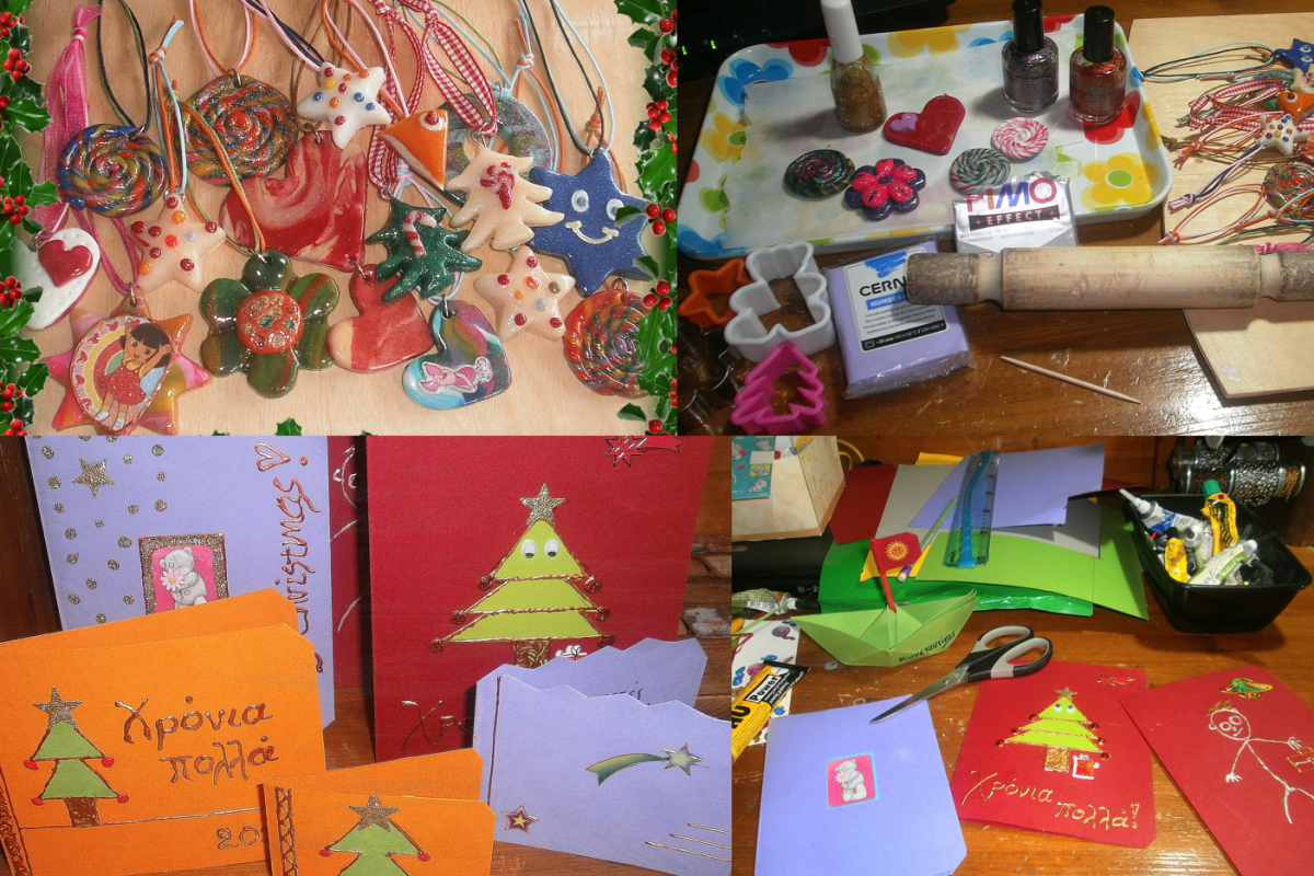 Πώς να φτιάξετε χειροποίητα χριστουγεννιάτικα στολίδια από πολυμερικό πηλό!