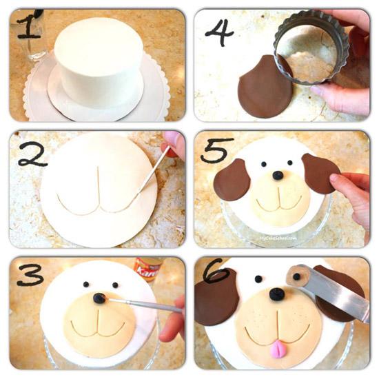 τούρτα-σκύλος-βήμα-βήμα