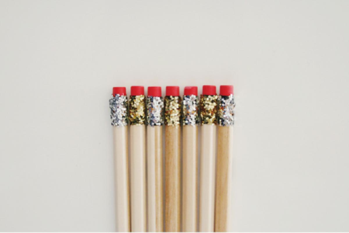 Φτιάξτε μολύβια… αστραφτερά!
