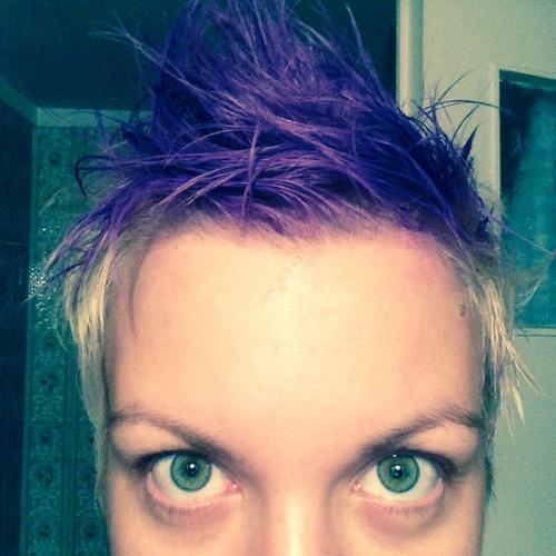 μοβ κιμωλία μαλλιών