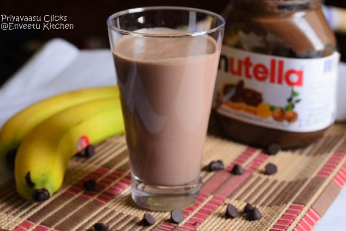 Μπανάνα-Nutella smoothie