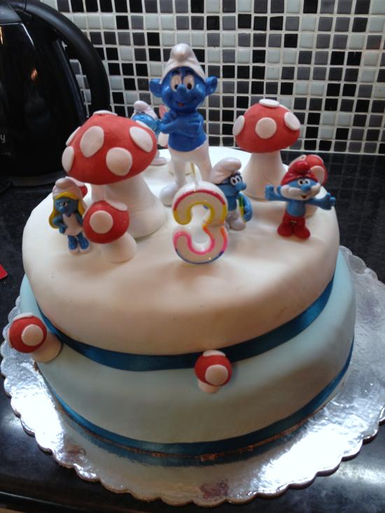 πάρτι στρουμφάκια τούρτα