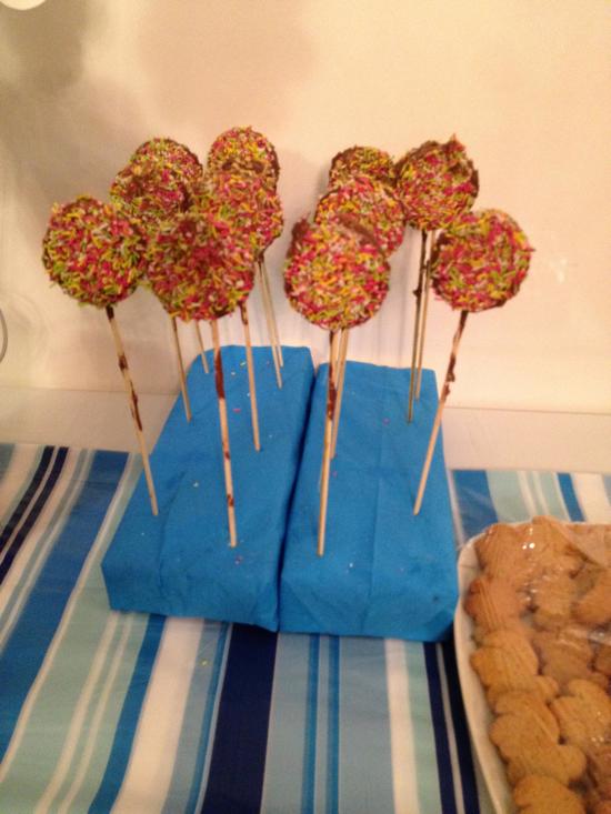 πάρτι στρουμφάκια cakepops
