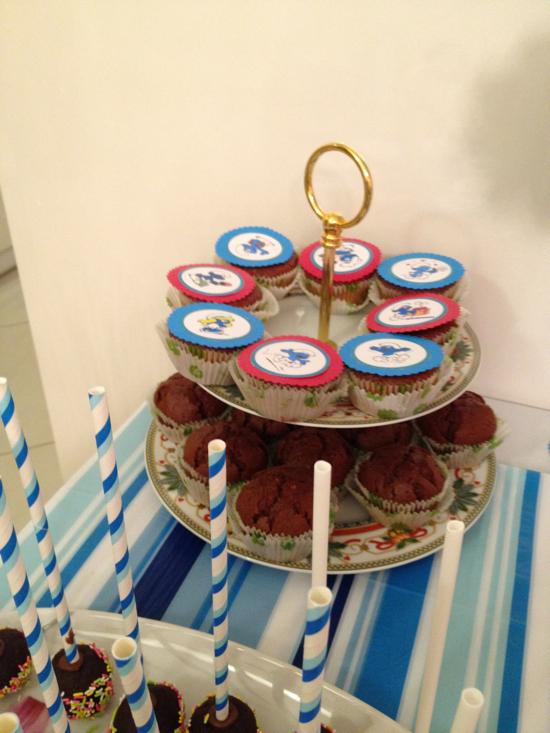 πάρτι στρουμφάκια cupcakes