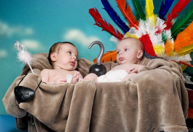 Luca and Leah (12 weeks) recreate Peter Pan_646x442