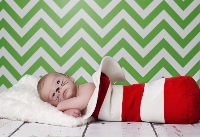 Nathan (4 weeks) recreates The Cat in the Hat_646x442