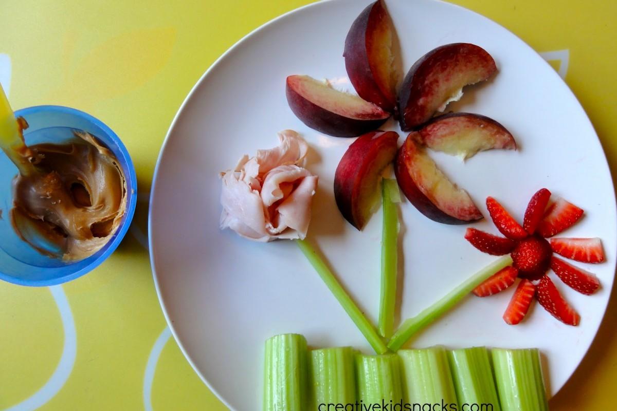 10 υγιεινά λουλουδο-σνακ για παιδιά
