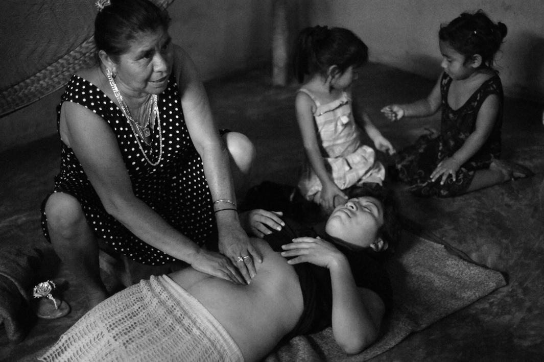 Traditional Mayan midwife Elsa Gonzalez Ayala shows CASA Midwife