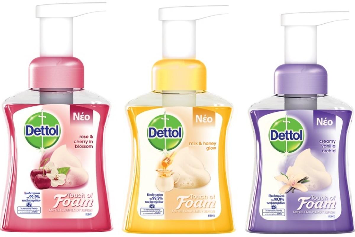 Το νέο Dettol Touch of Foam είναι απίστευτα απαλό με το δέρμα!