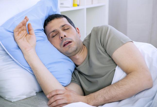 SNORING MAN