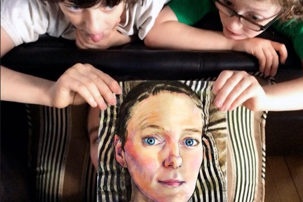 Απίθανες χαρτοπετσέτες με ζωγραφιές από μαμά