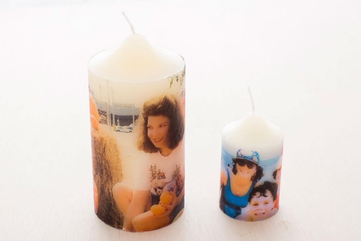 Διακοσμήστε κεριά με τις φωτογραφίες σας