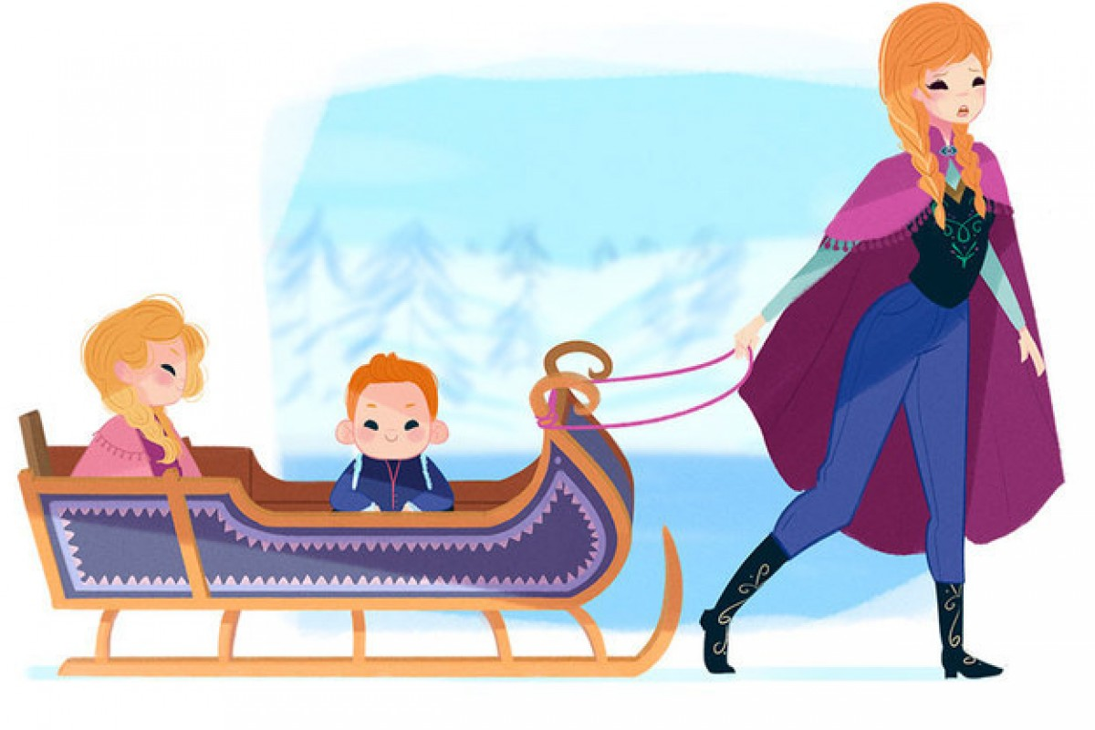 Πώς θα ήταν οι πριγκίπισσες της Ντίσνεϊ αν γίνονταν μαμάδες;