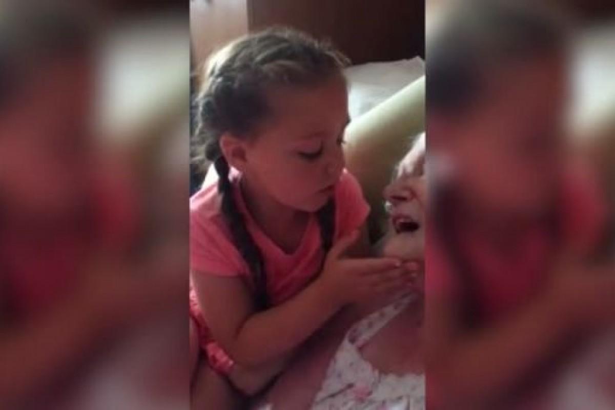 [Βίντεο] Ένα μικρό κορίτσι τραγουδά στην άρρωστη προγιαγιά της και μας κάνει να βουρκώσουμε
