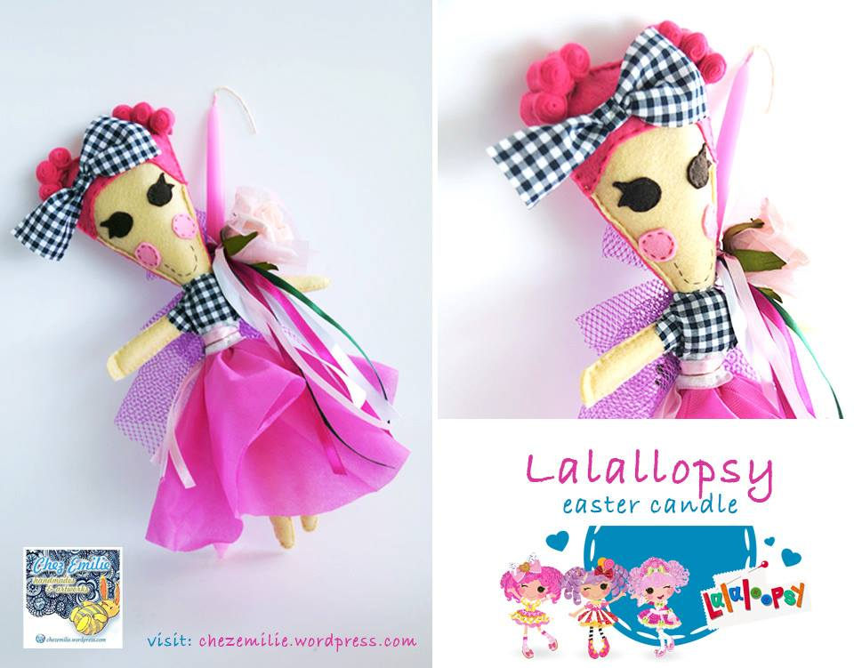 Lalaloopsy easter candle_ Chez Emilie