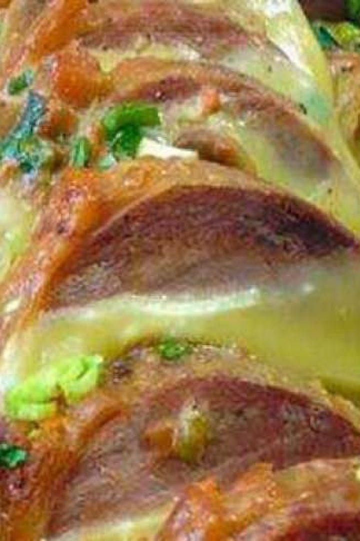 Μοσχαράκι νουά με κασέρι και μανιτάρια
