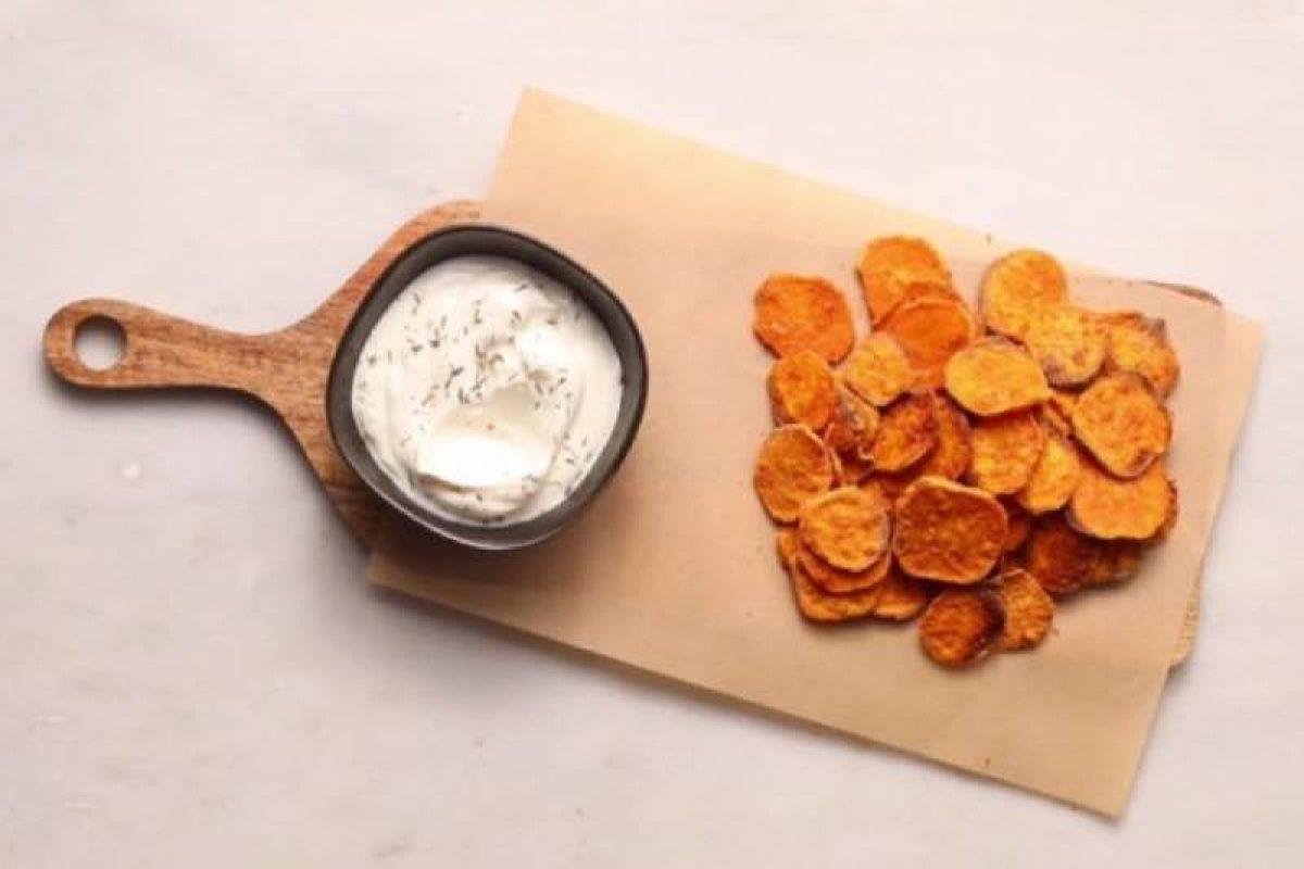 Φτιάξτε τσιπς γλυκοπατάτας!